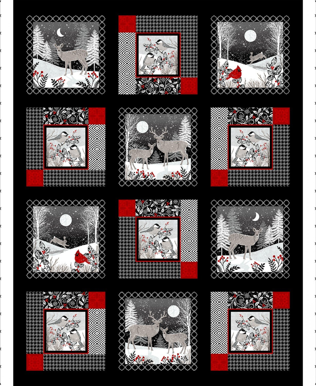 SE-Midwinter Song 5133P-95 Black/Red - 36 Panel