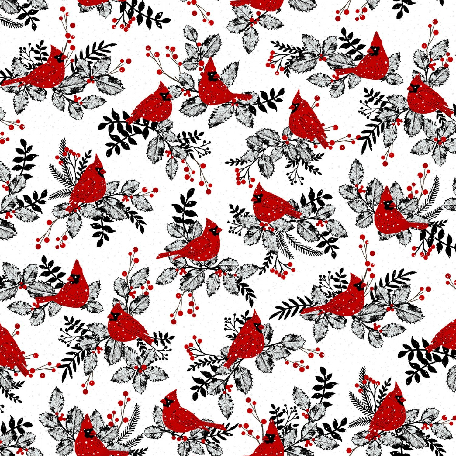 SE-Midwinter Song 5136-8 Red - Cardinals