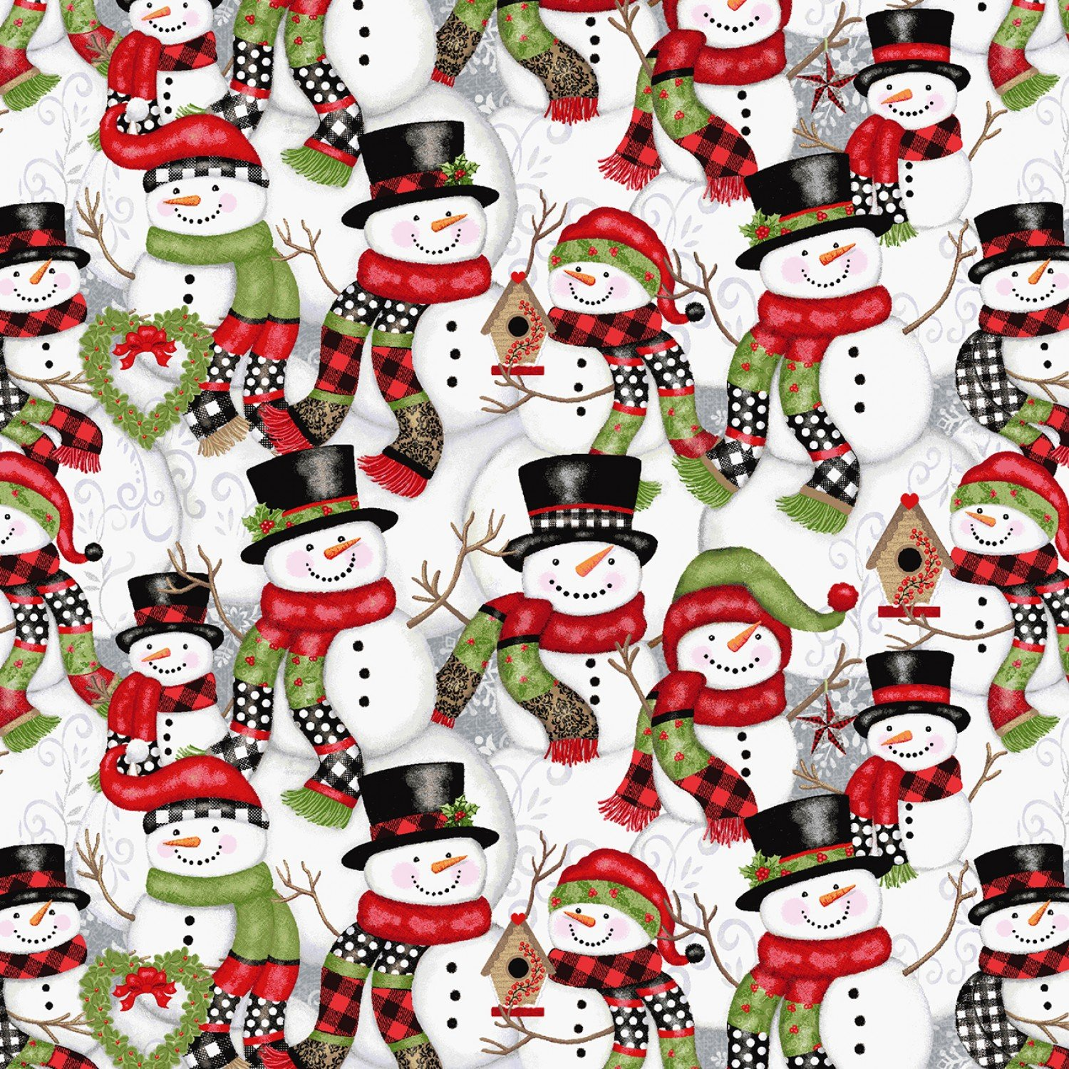SE-Snow Place Like Home 5162-98 Multi - Stacked Snowmen