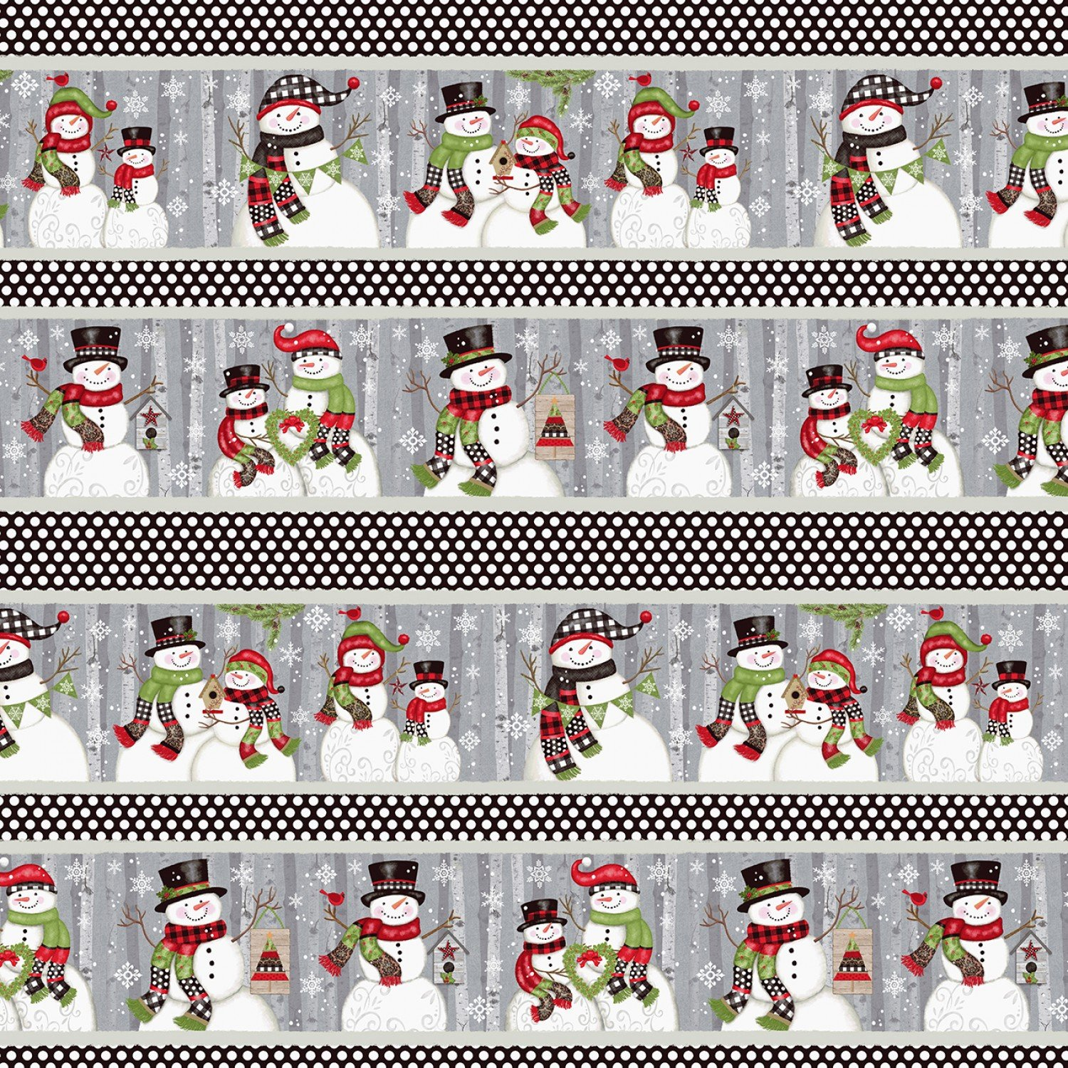 SE-Snow Place Like Home 5163-98 Multi - Border Stripe