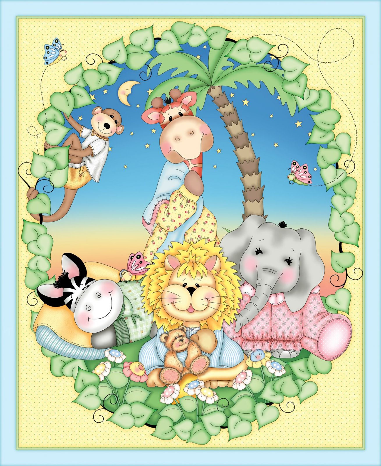 SC-Bazooples 52214-A620715P Sweet Dreams Quilt Panel
