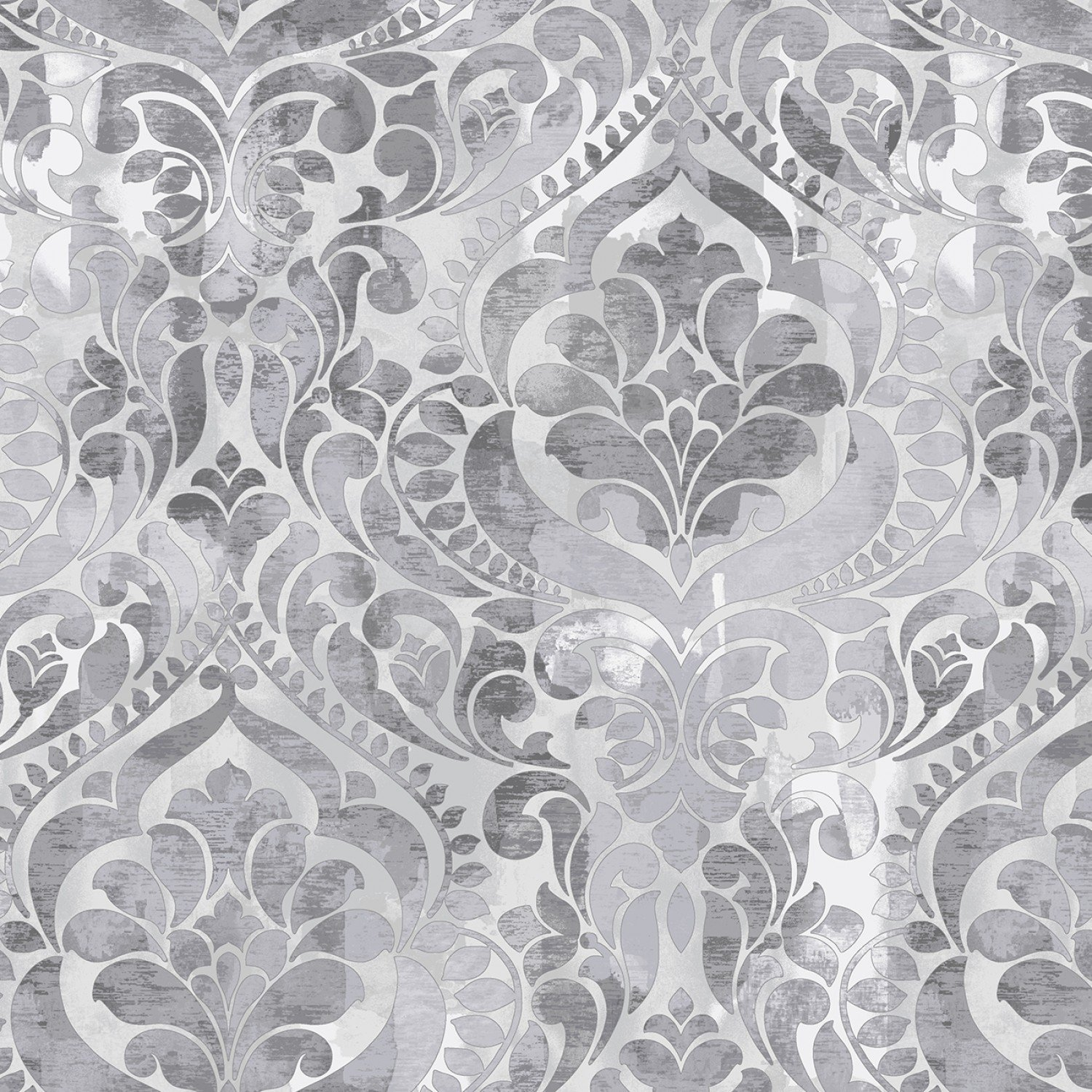 SE-Fiorenza - Digital 108 Wide 5236-90 Light Gray - Damask