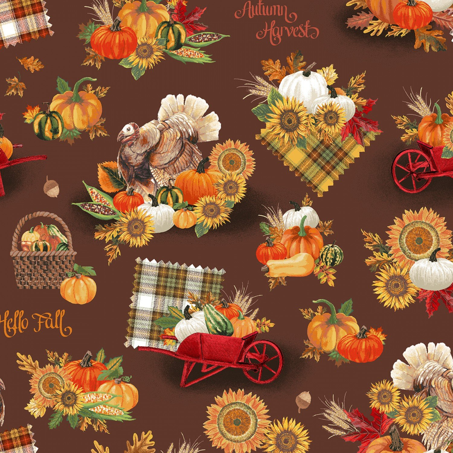 WF-Holiday One of a Kind (Digital) 52520D-3 Brown - Happy Harvest