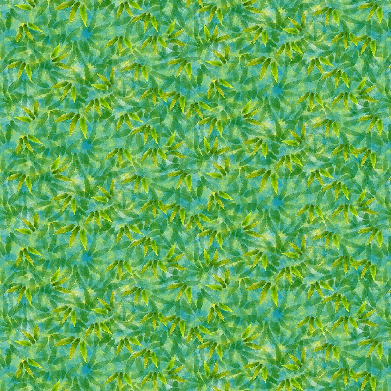 SE-Panda Sanctuary Digital 5274-66 Green - Leaf Texture