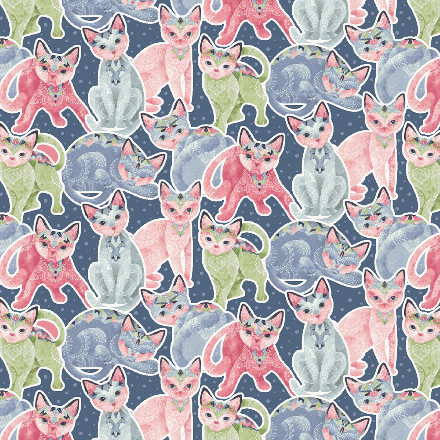 SE-Fancy Cats 5293-72 Multi - Packed Cats