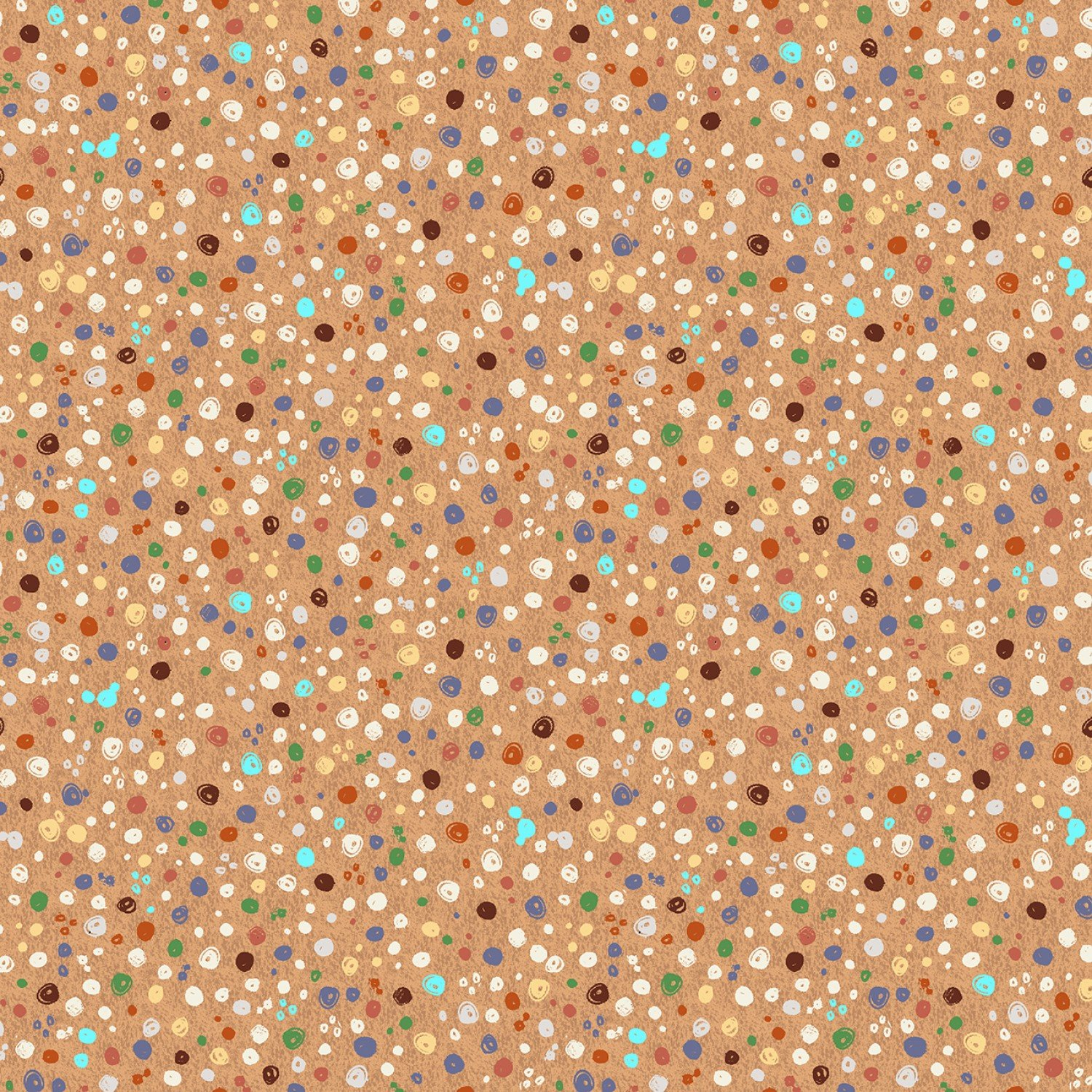 WF-A is for Animal 52978-8 Tan - Scribble Dots