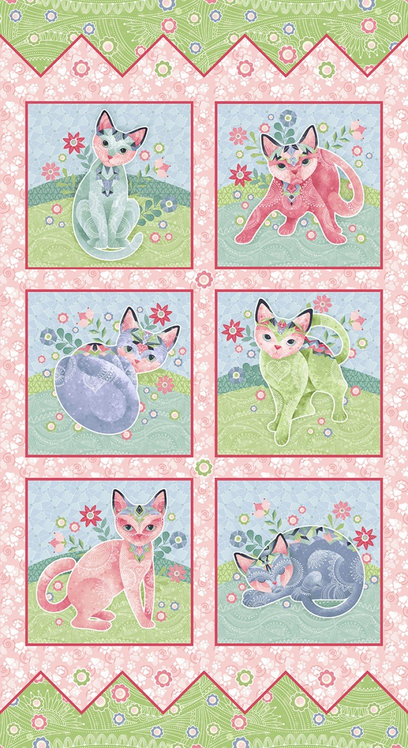 SE-Fancy Cats 5300P-26 Multi - Fancy Cats Panel 24 x 44