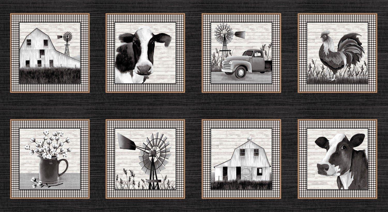 SE-Buttermilk Farmstead 5330-99 Black - 9 Blocks