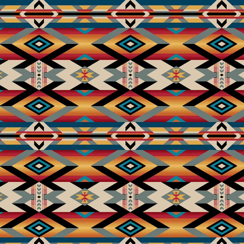 SE-Wild Wild West 5354-89 Multi - Serape Blanket