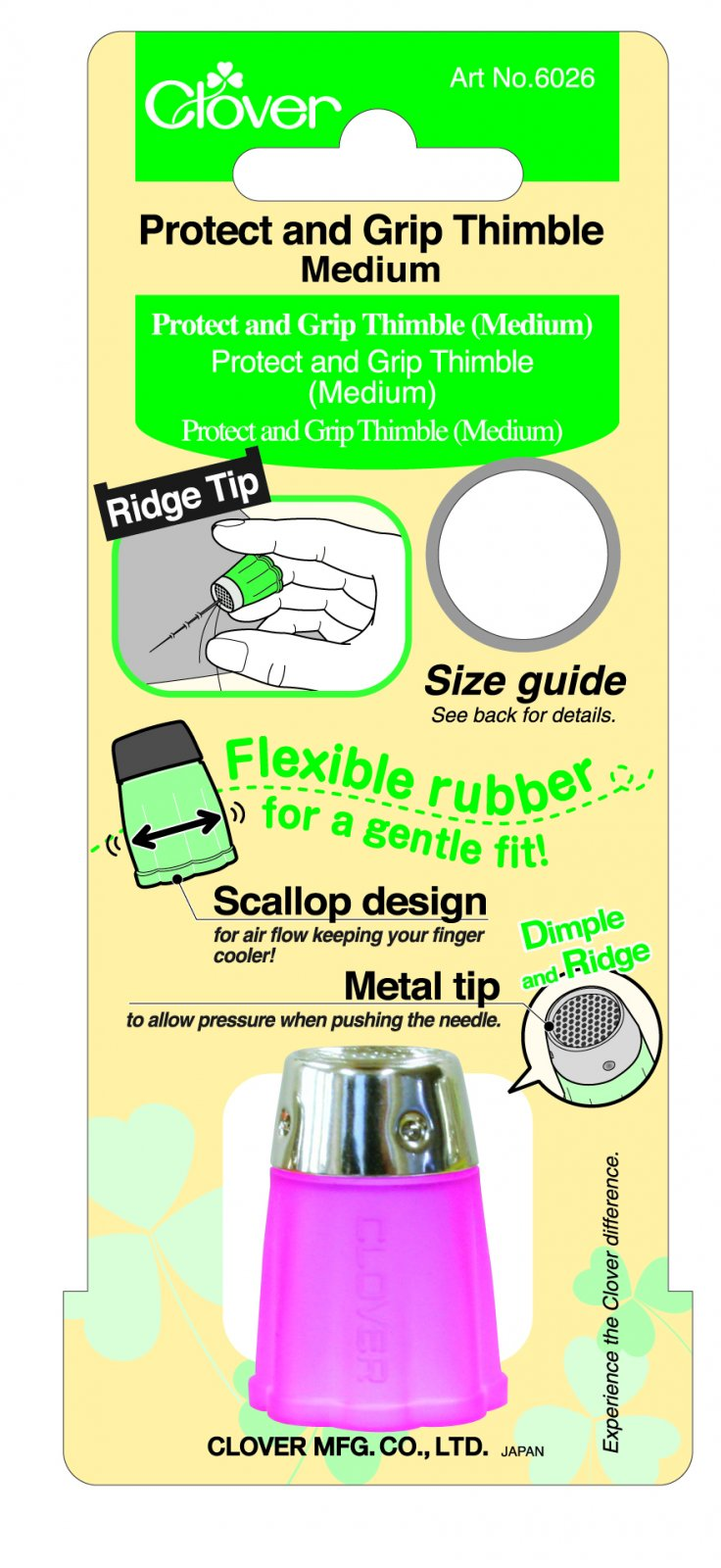 Clover - 6026 Protect and Grip Thimble (Medium)