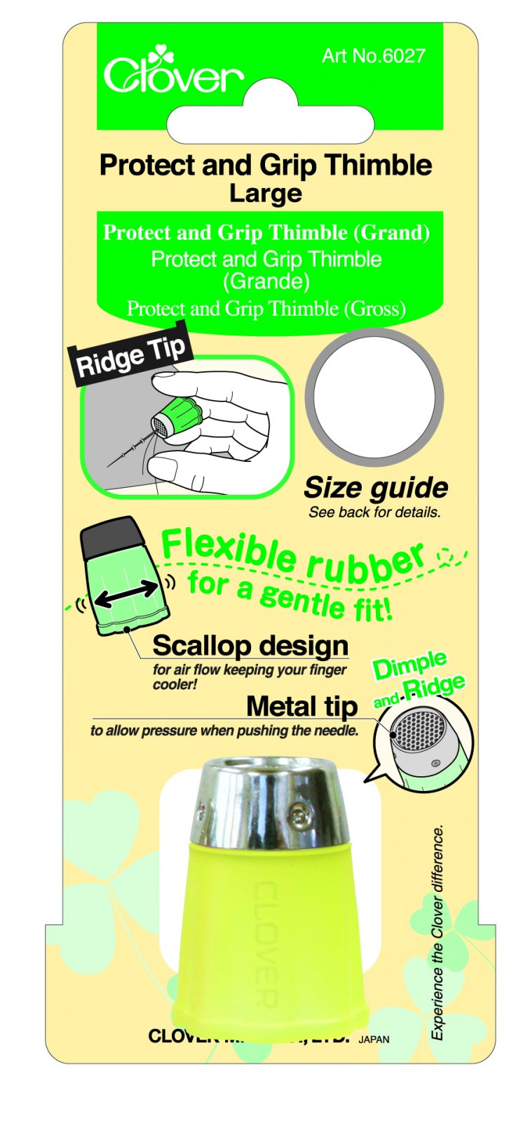 Clover - 6027 Protect and Grip Thimble (Large)