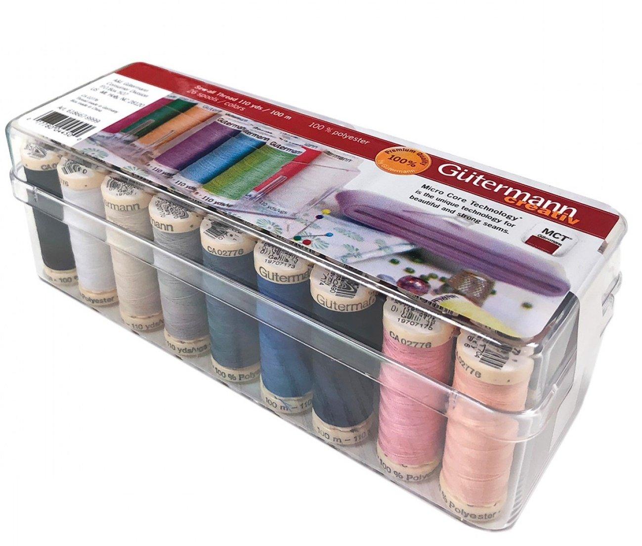 Gutermann Creativ Thread - 618667-9999 26 Spool Sew-All Thread Box - 26 Colors