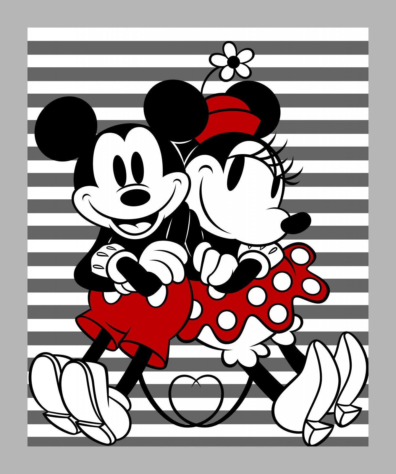 SC-Disney Mickey & Minnie 68160 Mickey and Minnie Stripe Panel