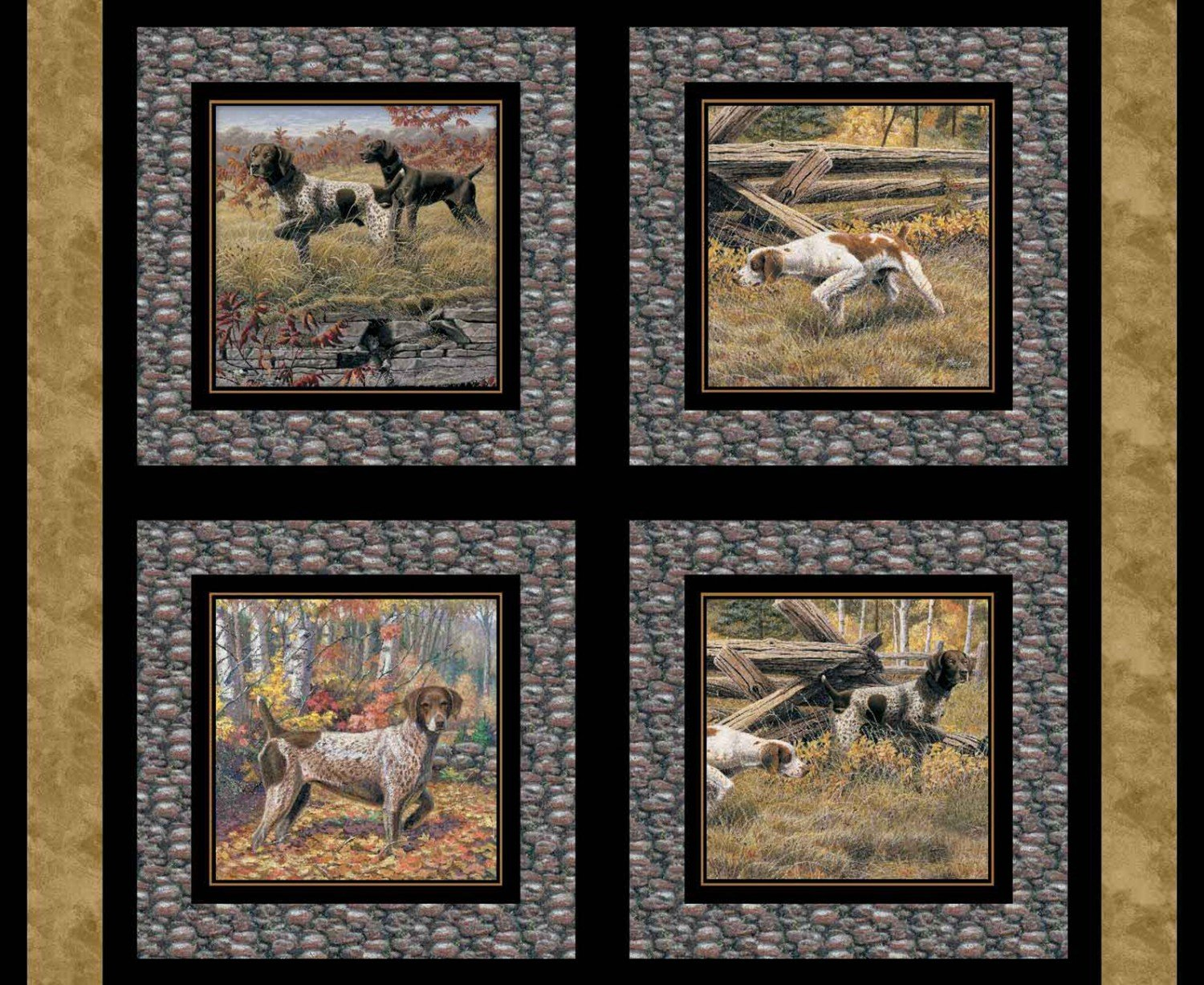 SC-Wild Wings Show Dogs 68445 Pillow Panel