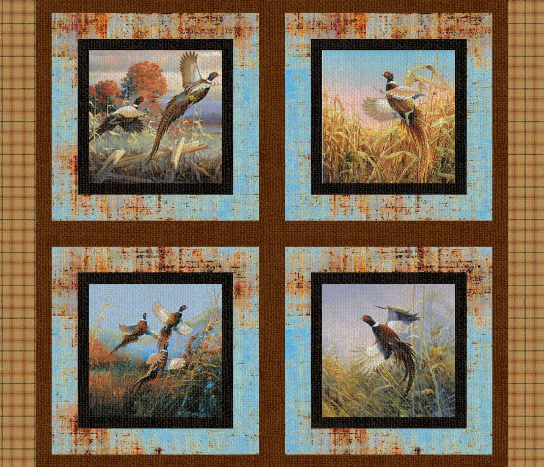 SC-Wild Wings Pheasants Forever 68450 Pillow Panel