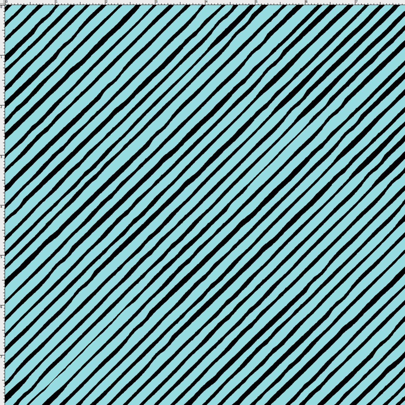 LD-Sorta Stripe Bias Turquoise/Black 692-191