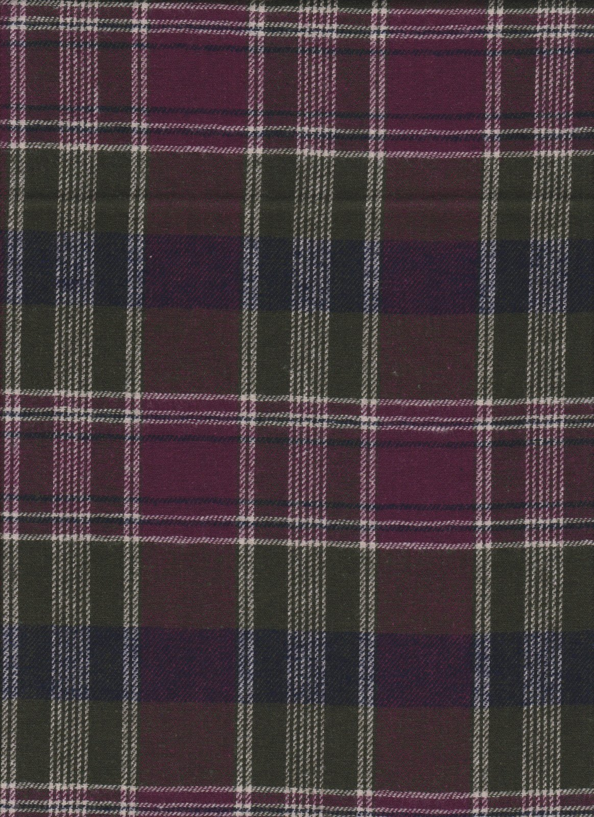 PROMO* Yarn Dyed Flannel Plaid - 6950 Madison Plum