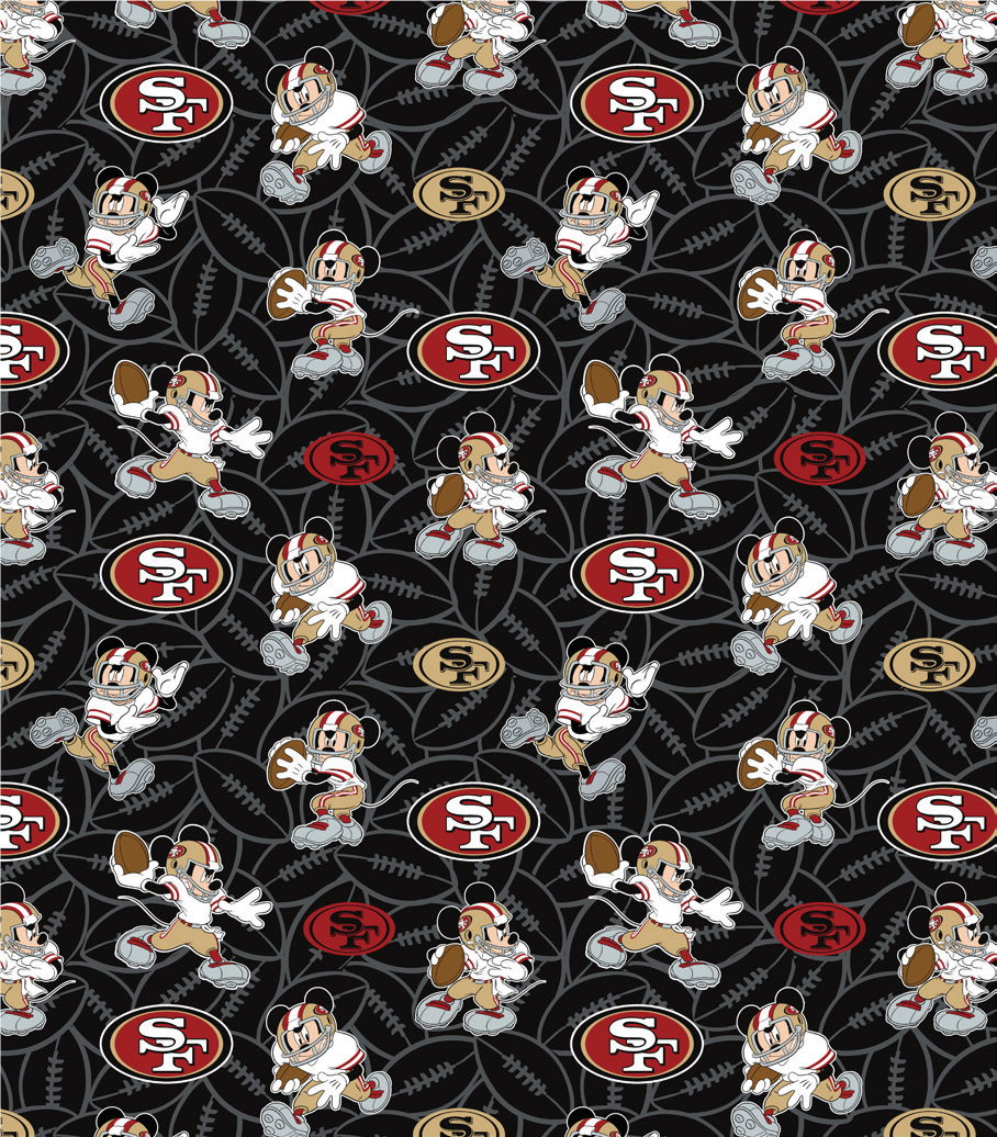 FT-NFL Disney Mash-Up 70391-D 49ers/Mickey