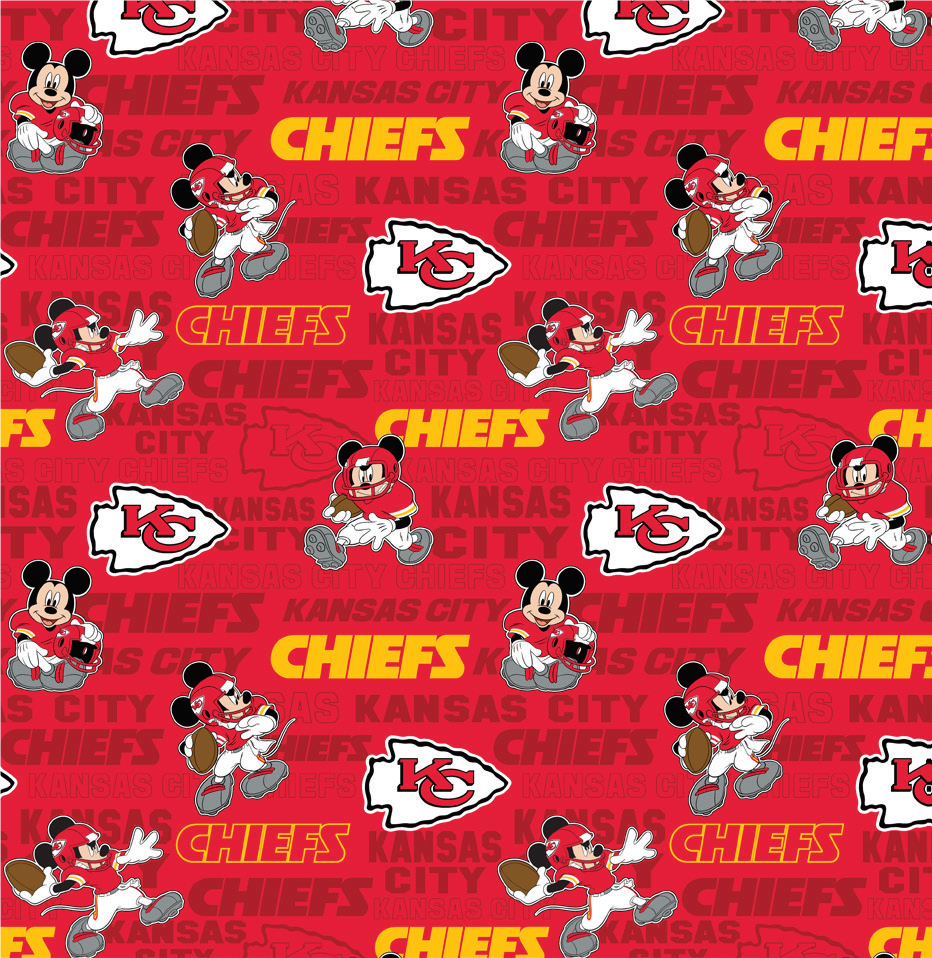 FT-NFL Disney Mash-Up 70392-D Chiefs/Mickey