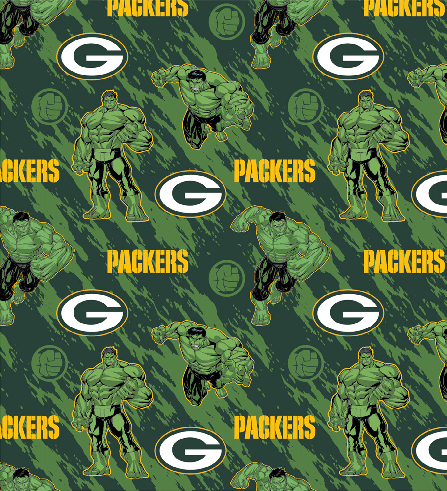 FT-NFL Marvel Mash-Up 70396-D Packers/Hulk
