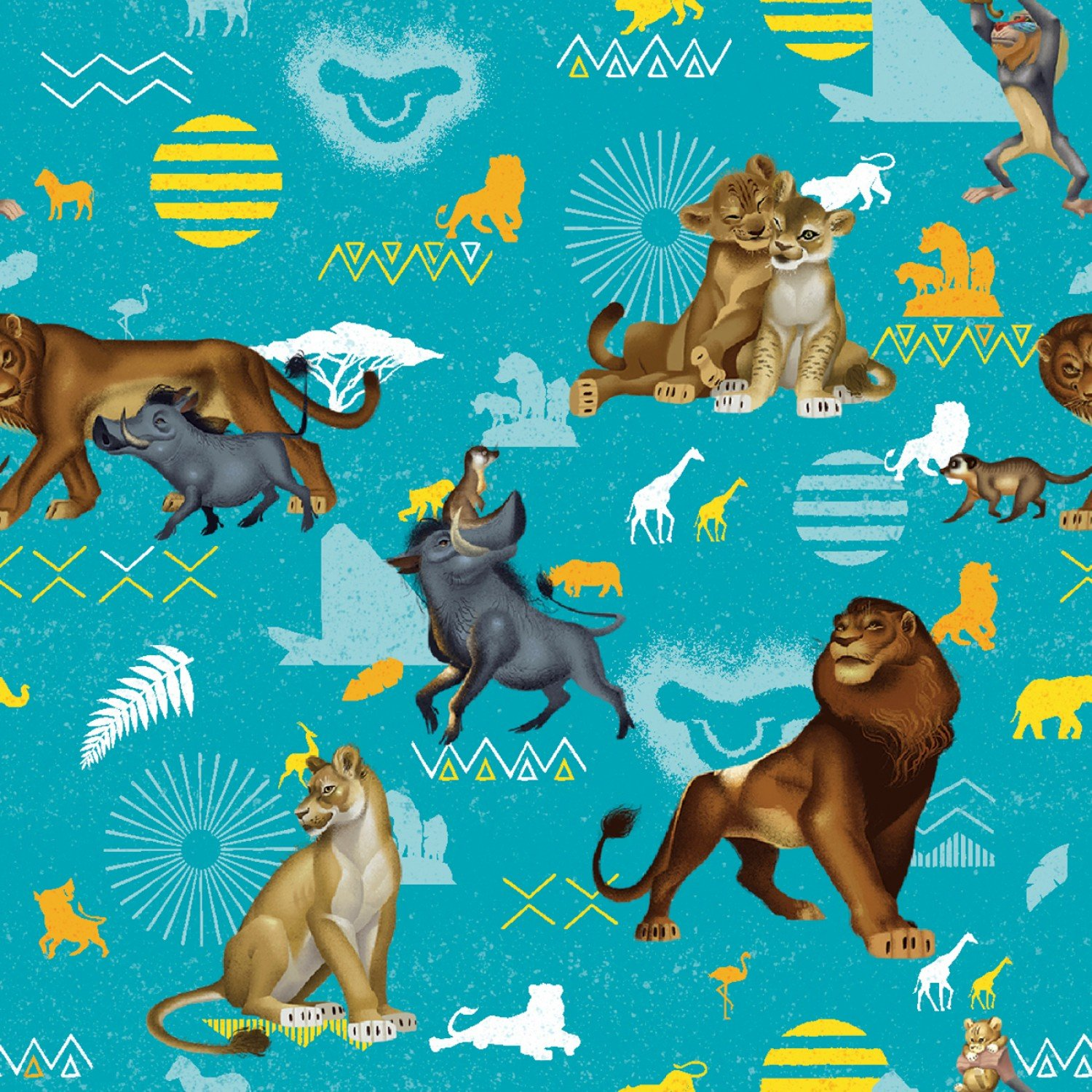 SC-Lion King 70737 Lion King Blue Badges - Fleece