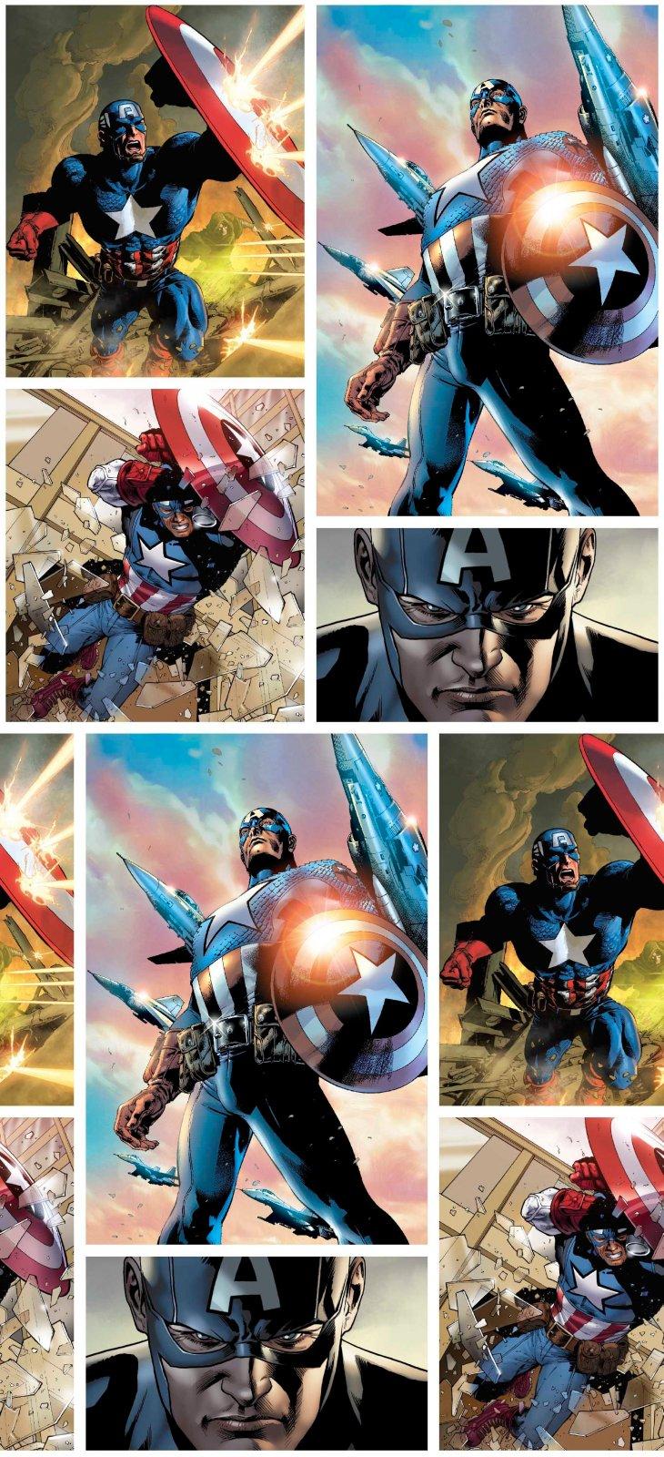 PROMO* SC-Marvel Avengers Digital 71006-A620715 Marvel Captain America