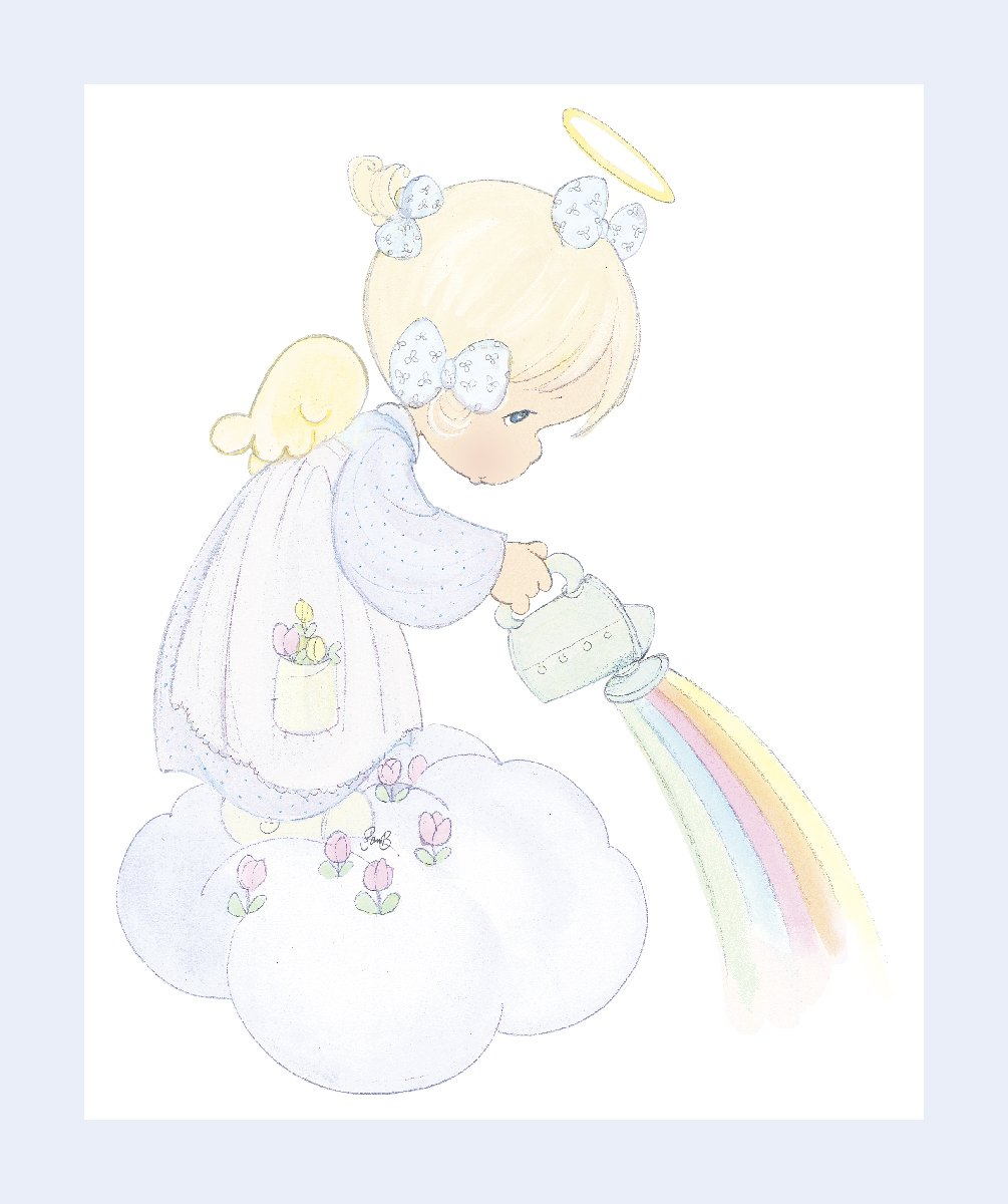 SC-Precious Moments 71689 Angel Panel