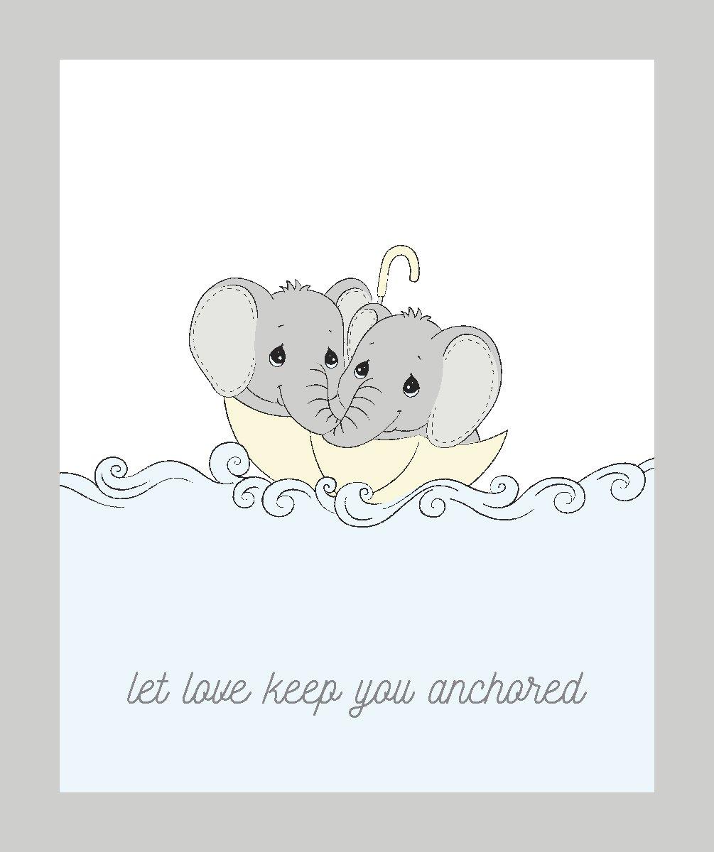 SC-Precious Moments 71690 Elephants Set Sail Panel