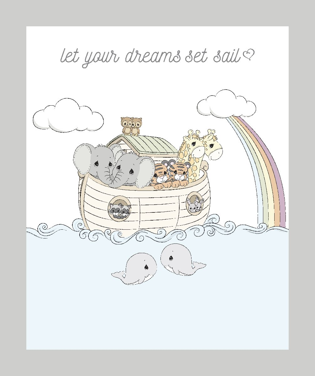 SC-Precious Moments 71691 Noah's Ark Panel