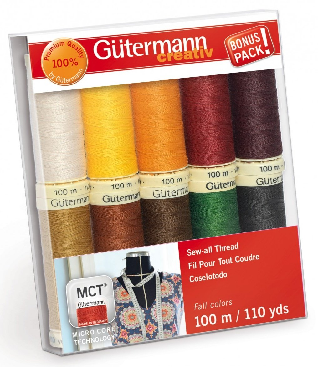 Gutermann Creativ Thread - 734014-2 Fall Sew-All Thread 10 Spools/10 Colors