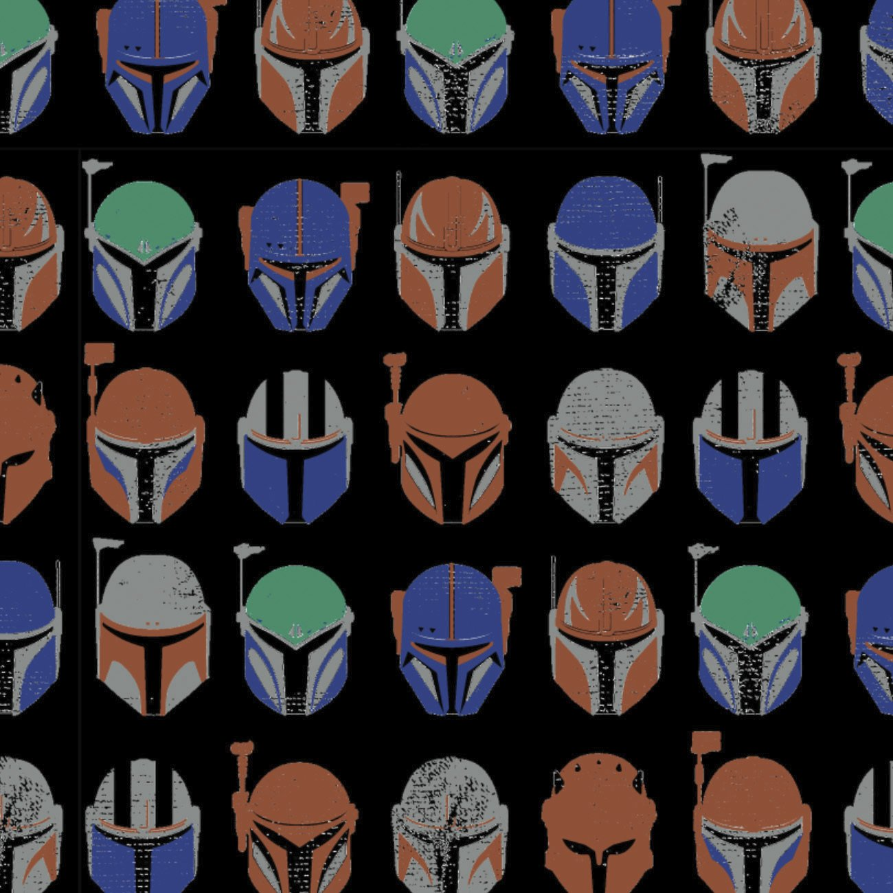 CF-The Mandalorian 73800211AJAS-02 Black - Mandalorian Assorted Helmets Fleece