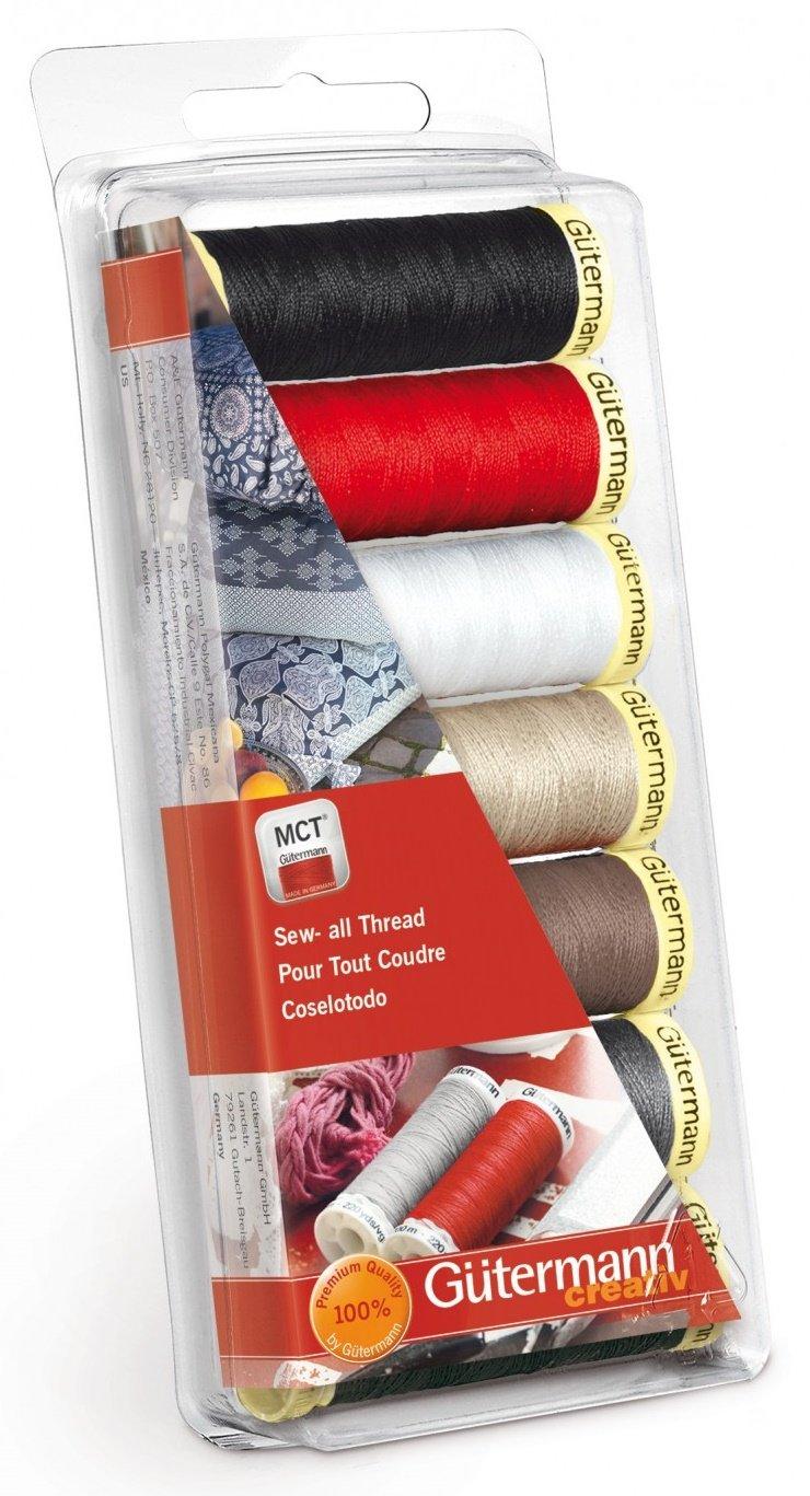 Gutermann Creativ Thread - 742716 Sew-All Thread 7 Spools/7 Colors