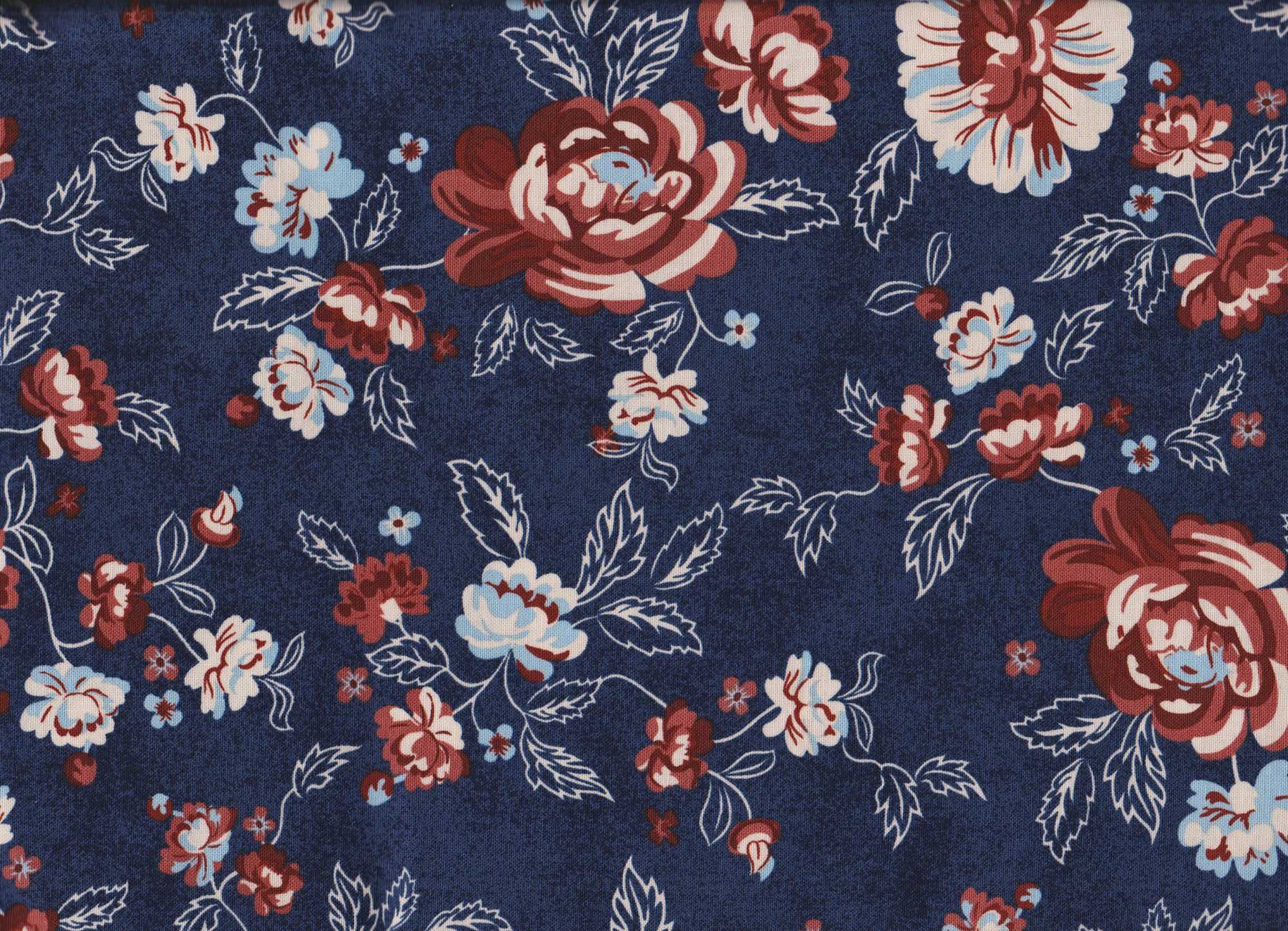 PROMO* Boundless Pre Cuts - 82058 Navy/Brick Red Floral