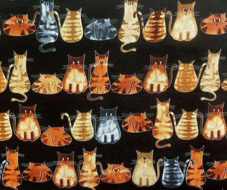 PROMO* HF-Novelty Prints 846-1055 Cats on Black Background