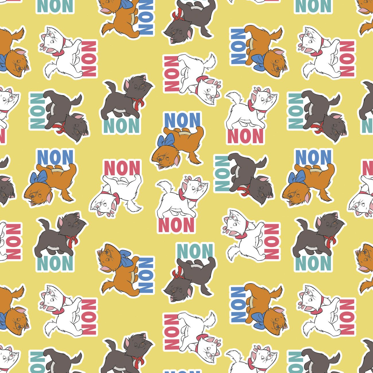 CF-The Aristocats 85030205-01 Yellow - Kittens Say Non