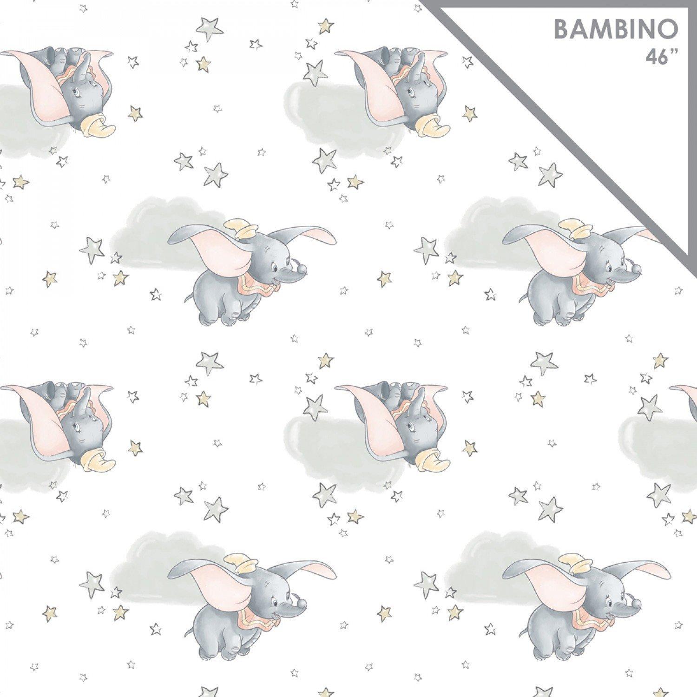 CF-Disney Bambino 85160108E-01 Dumbo in the Sky (Double Gauze Fabric)