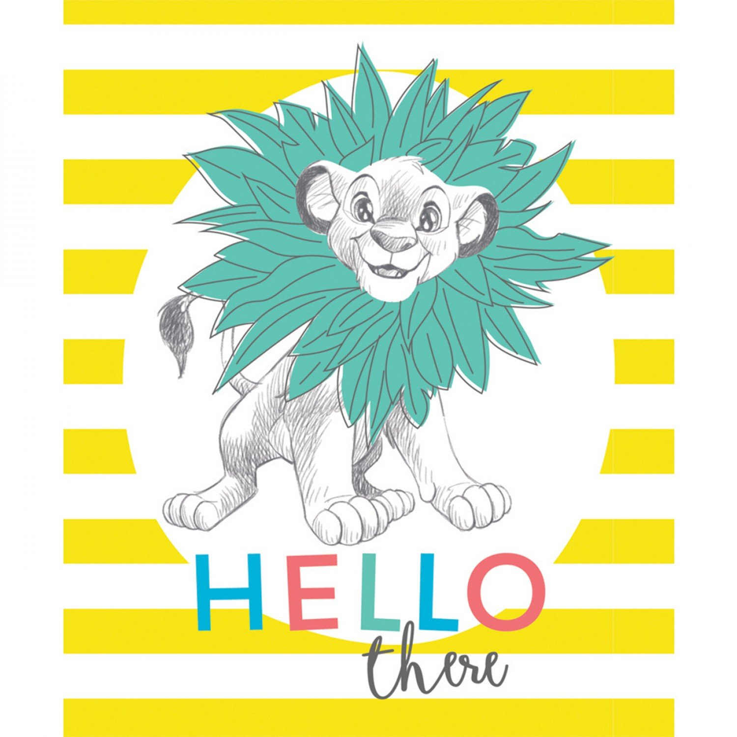 CF-Disney Dress to Impress Collection 85260302P-01 Yellow - Lion King's Simba Hello There Panel