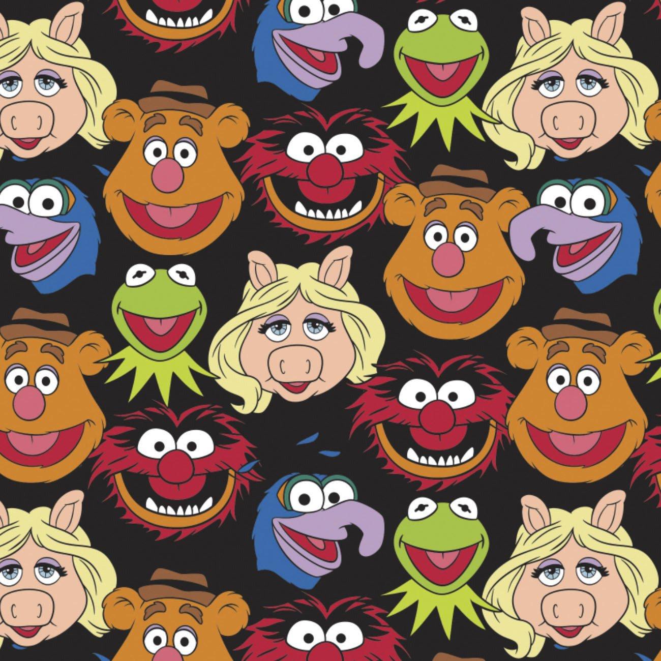 CF-Disney Cotton 85320101-02 Black - Muppets Cast