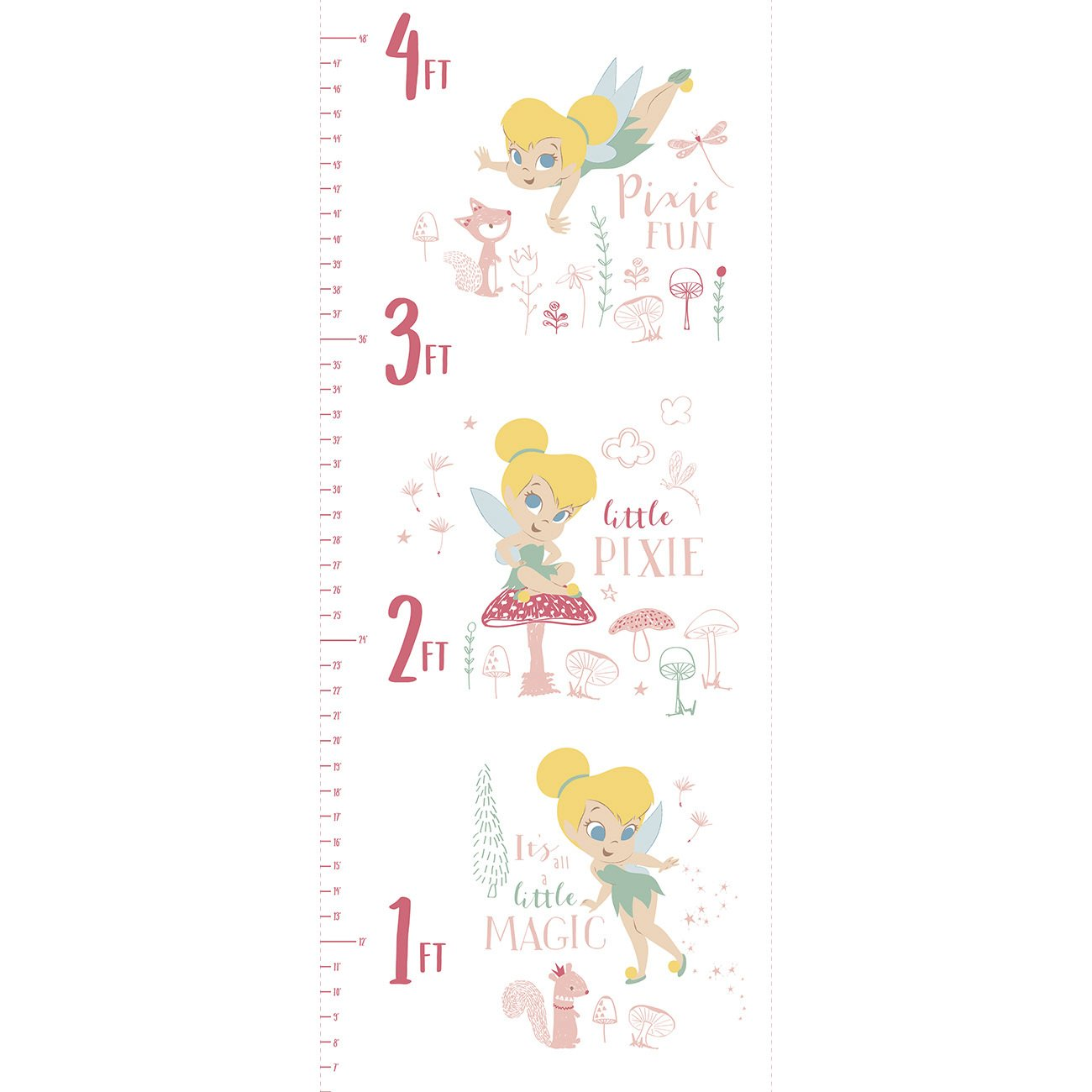 CF-Peter Pan & Tinkerbell 85400305P-01 White - Tinkerbell Growth Chart Panel