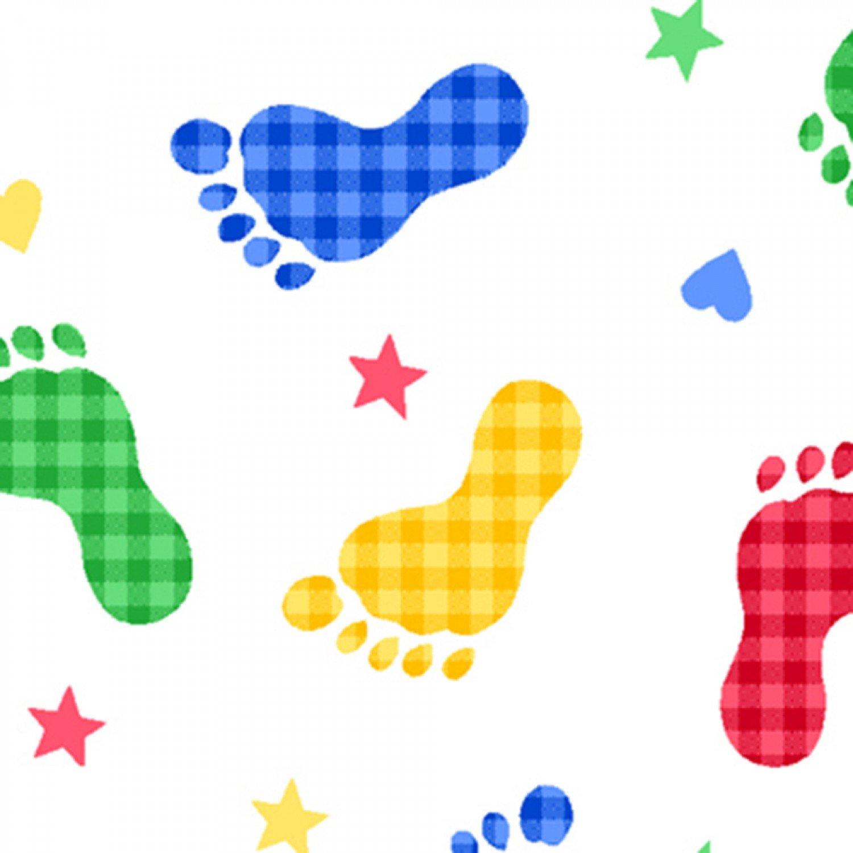 AE-Comfy Flannel Print 9307-78 Primary Feet Prints