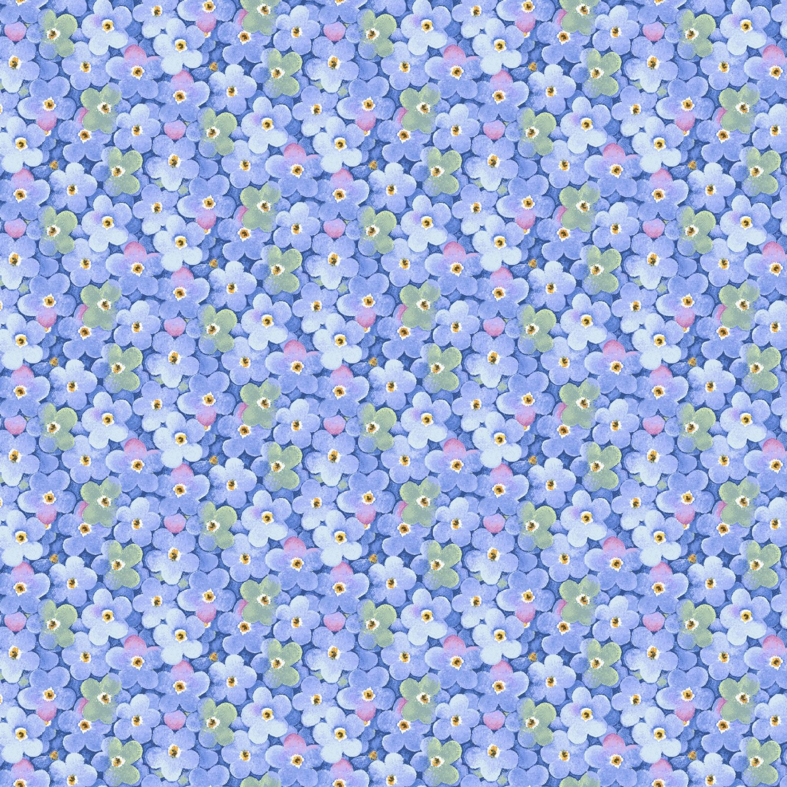 HG-Garden Inspirations 9358-77 Blue - Packed Little Flowers