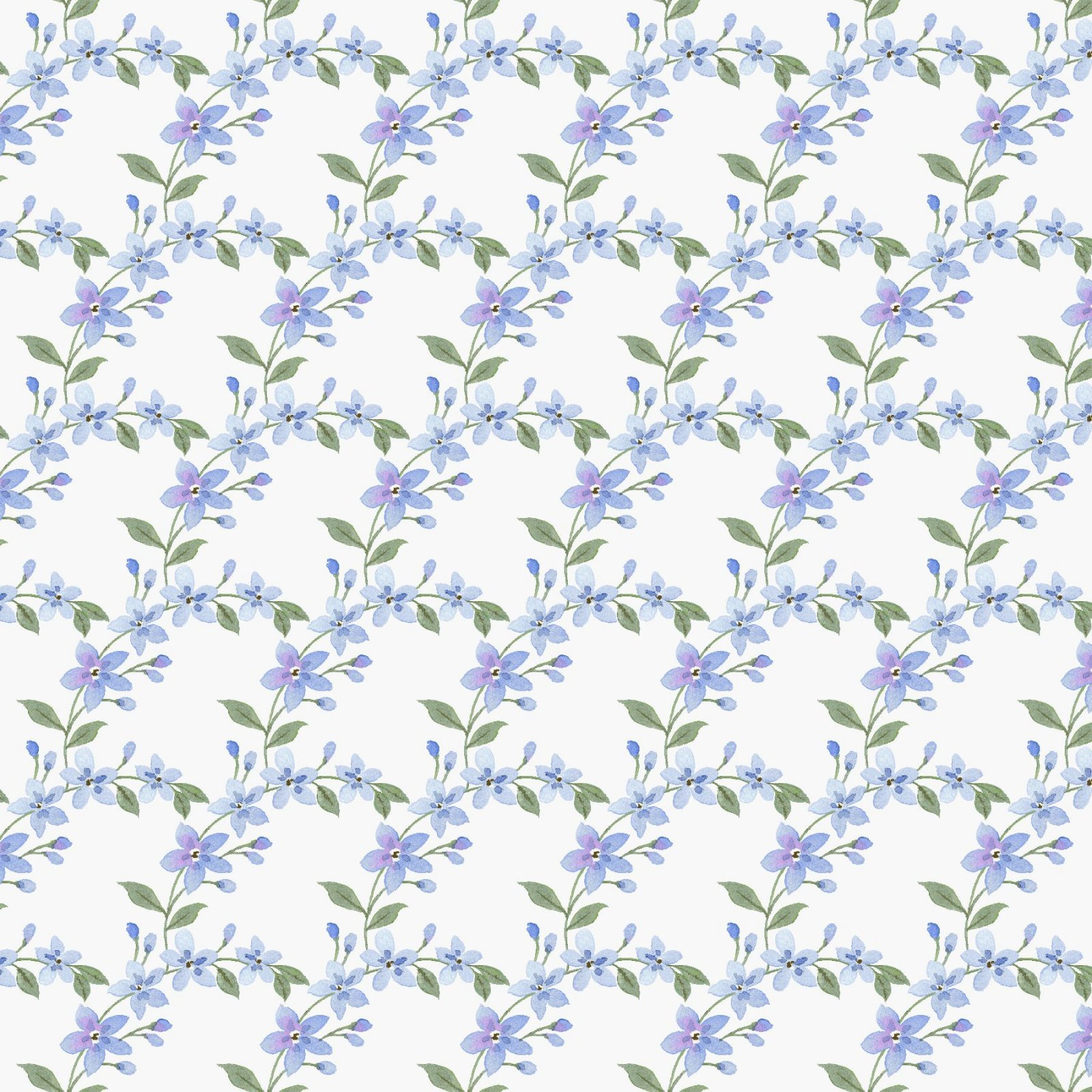 HG-Garden Inspirations 9362-17 Blue - Scalloped Blue Flowers