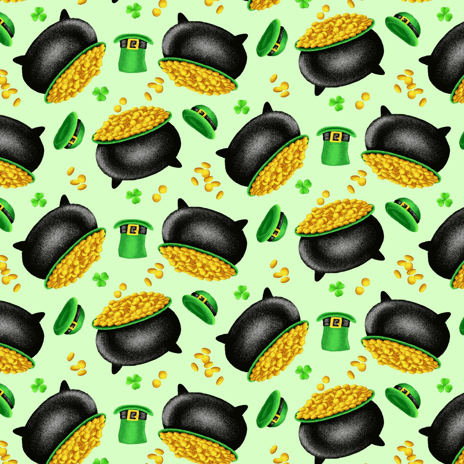 HG-Pot of Gold 9367-69 Green - Tossed Pot of Gold