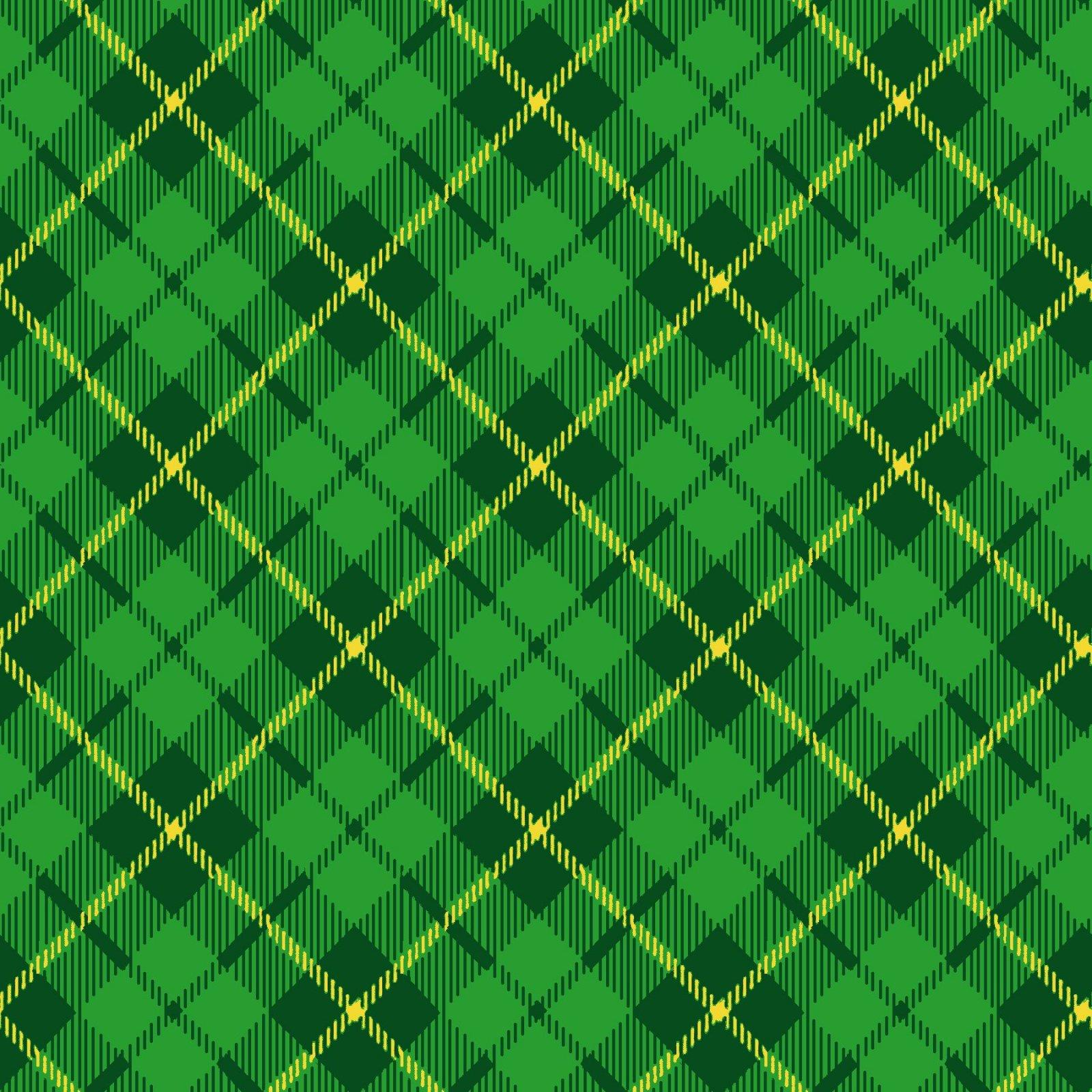 HG-Pot of Gold 9370-66 Green - Diagonal Plaid