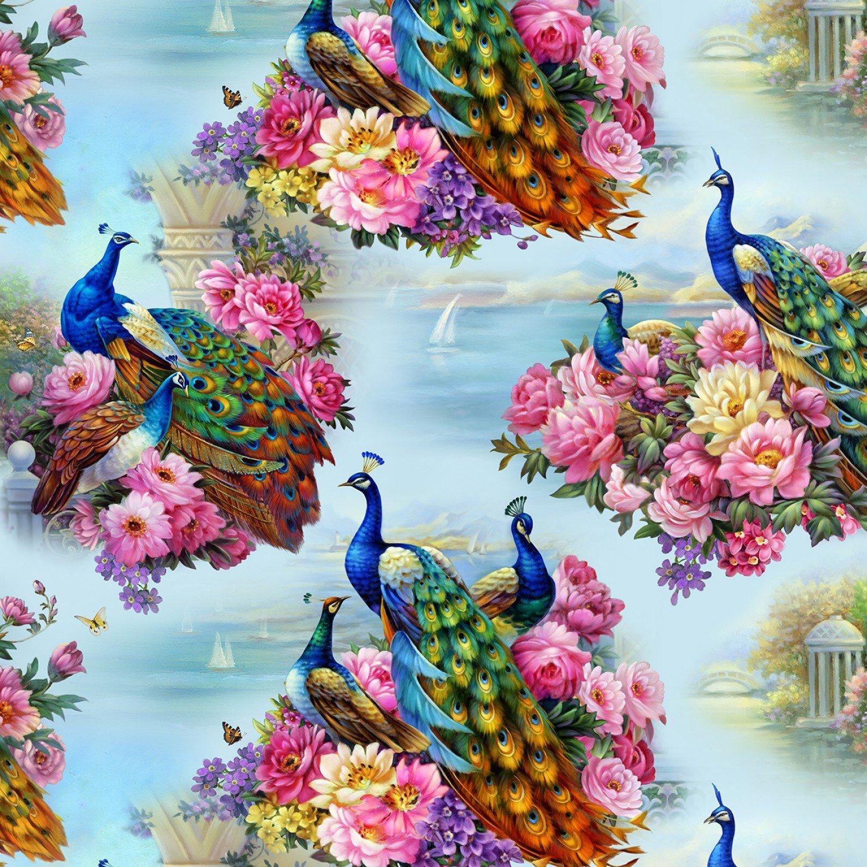 PROMO* ES-Exotica 9405 Blue - Scenic Allover