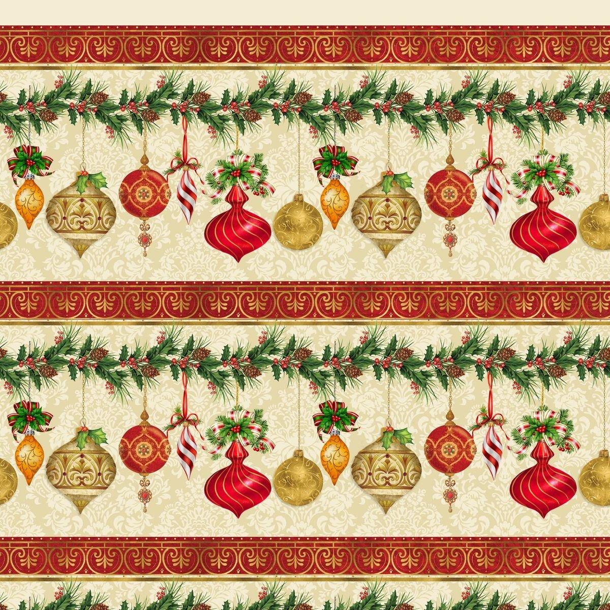 HG-Christmas Legend 9521-44 Cream - Border Stripe