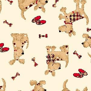 AE-Comfy Flannel Prints 9604-33 Dogs