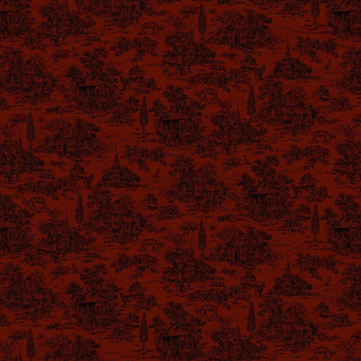 HG-Farmhouse Christmas 9668-88 Red - Toile