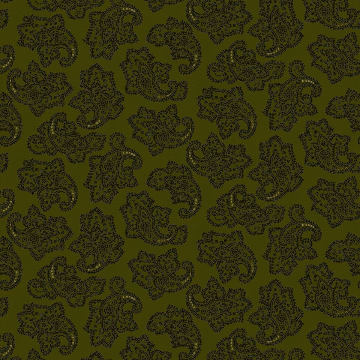 HG-Farmhouse Christmas 9674-66 Green - Delicate Paisley