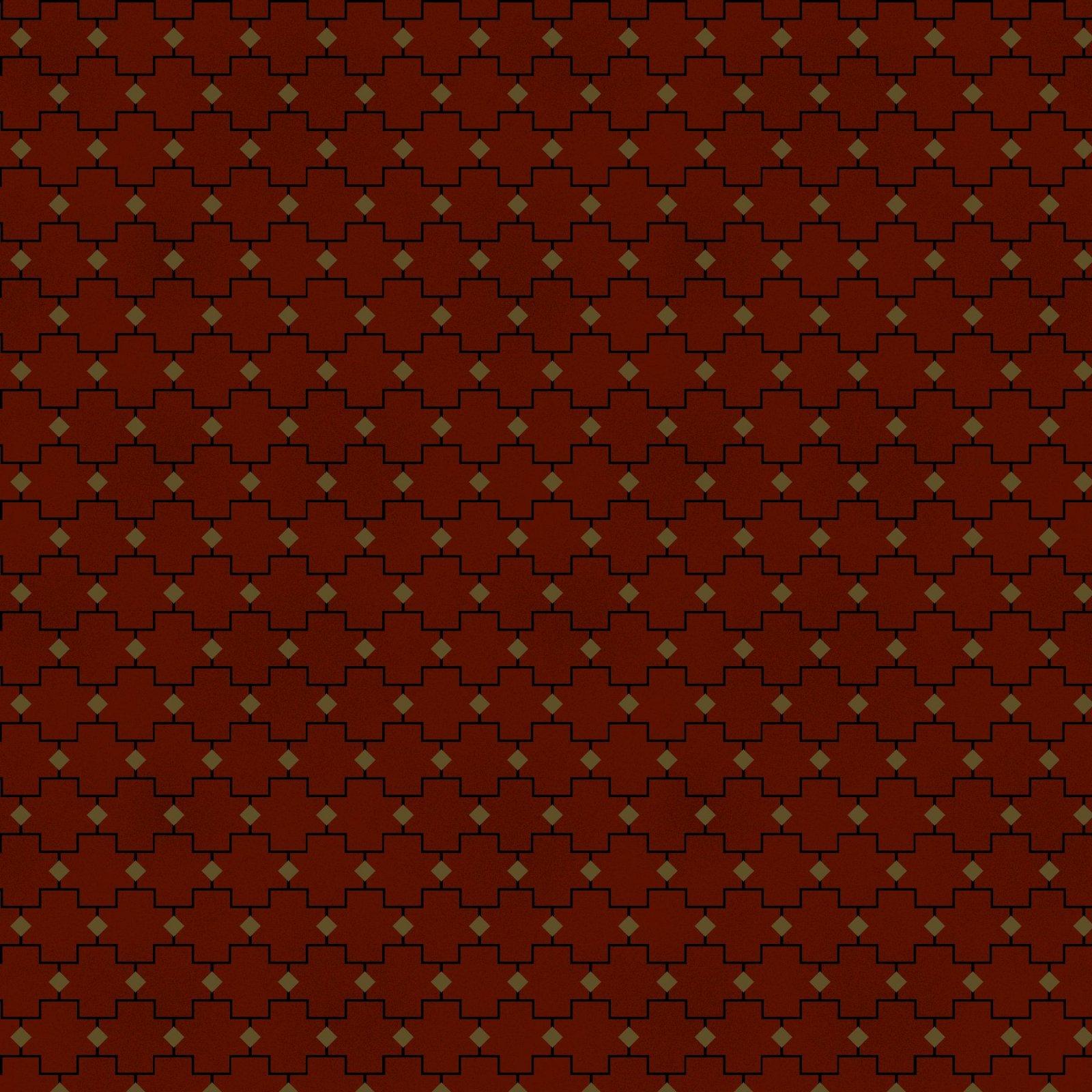 HG-Farmhouse Christmas 9675-88 Red - Geometric